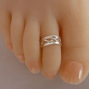 Adjustable Braided Cut Out Sterling Silver Ring